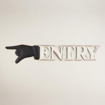Metal Retro Entry Sign