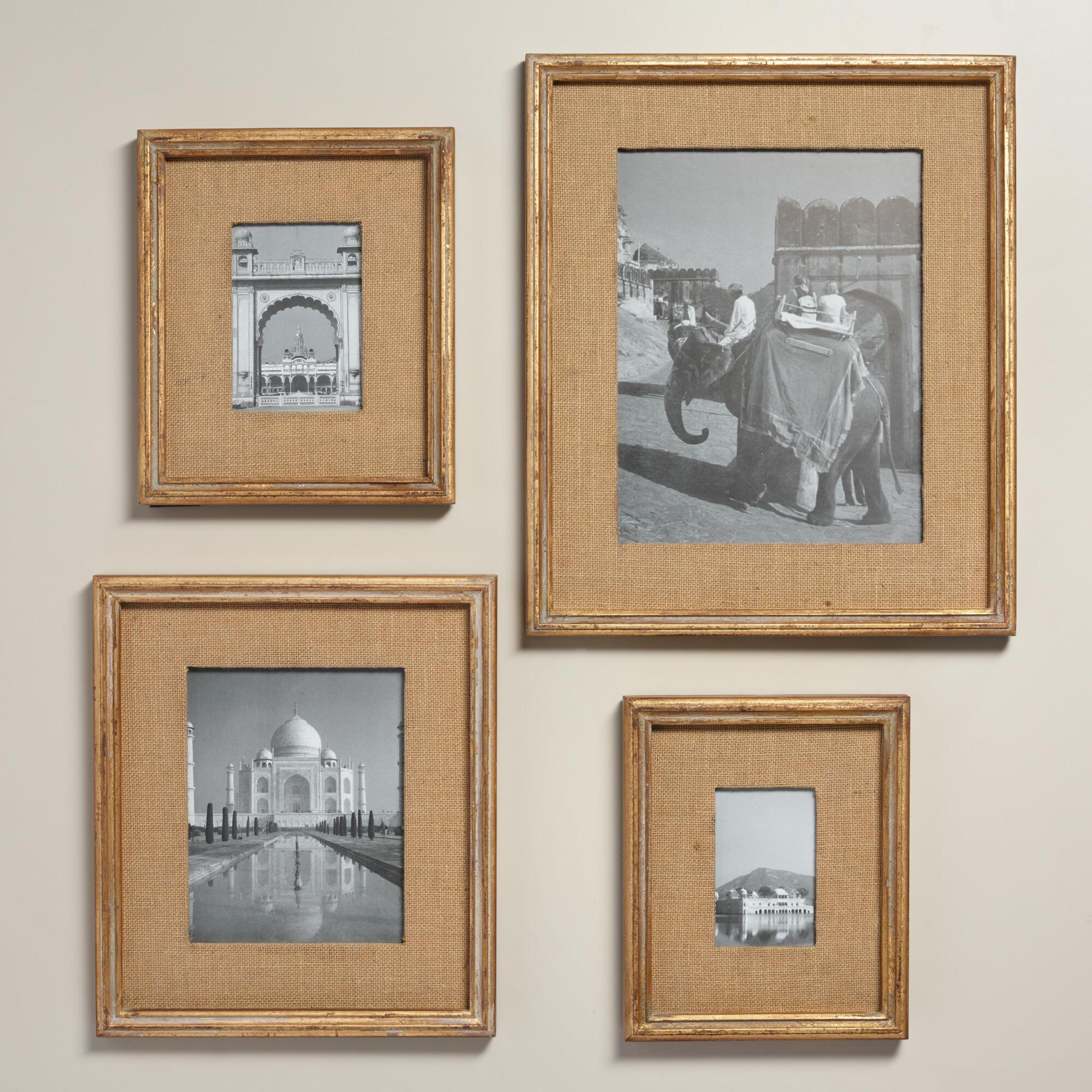 Gold Burlap Wall Frames World Market