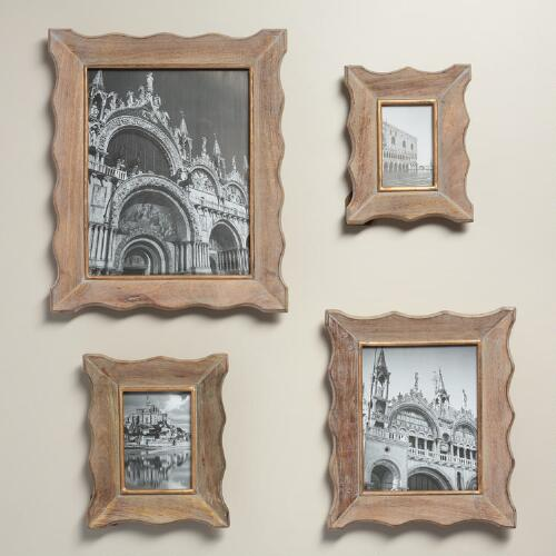 Gray and Gold Scalloped Wall Frames