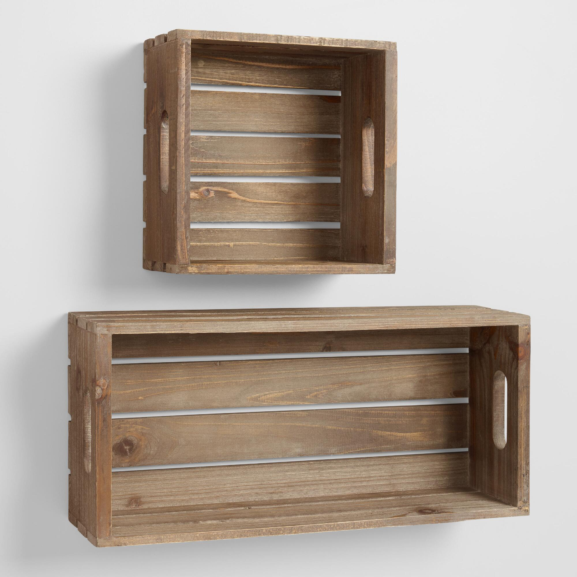 wood crate wall storage world market