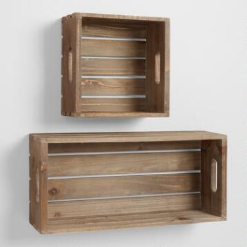 Wood Crate Wall Storage