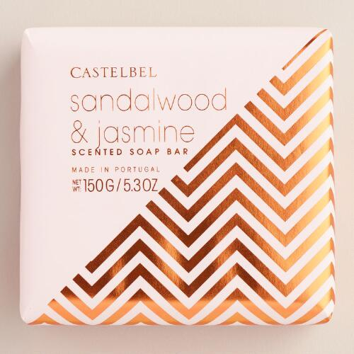 Castelbel Geometric Sandalwood & Jasmine Bar Soap