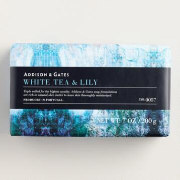 A&G Stonewash White Tea and Lilly Bar Soaps, Set of 2