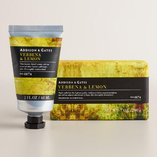 A&G Stonewash Verbena and Lemon Bath and Body Collection