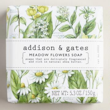 A&G Botanical Meadow Flowers Bar Soaps, Set of 2