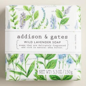 A&G Botanical Wild Lavender Bar Soap, Set of 2