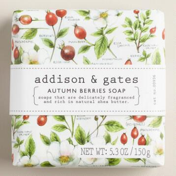 A&G Botanical Autumn Berries Bar Soap, Set of 2
