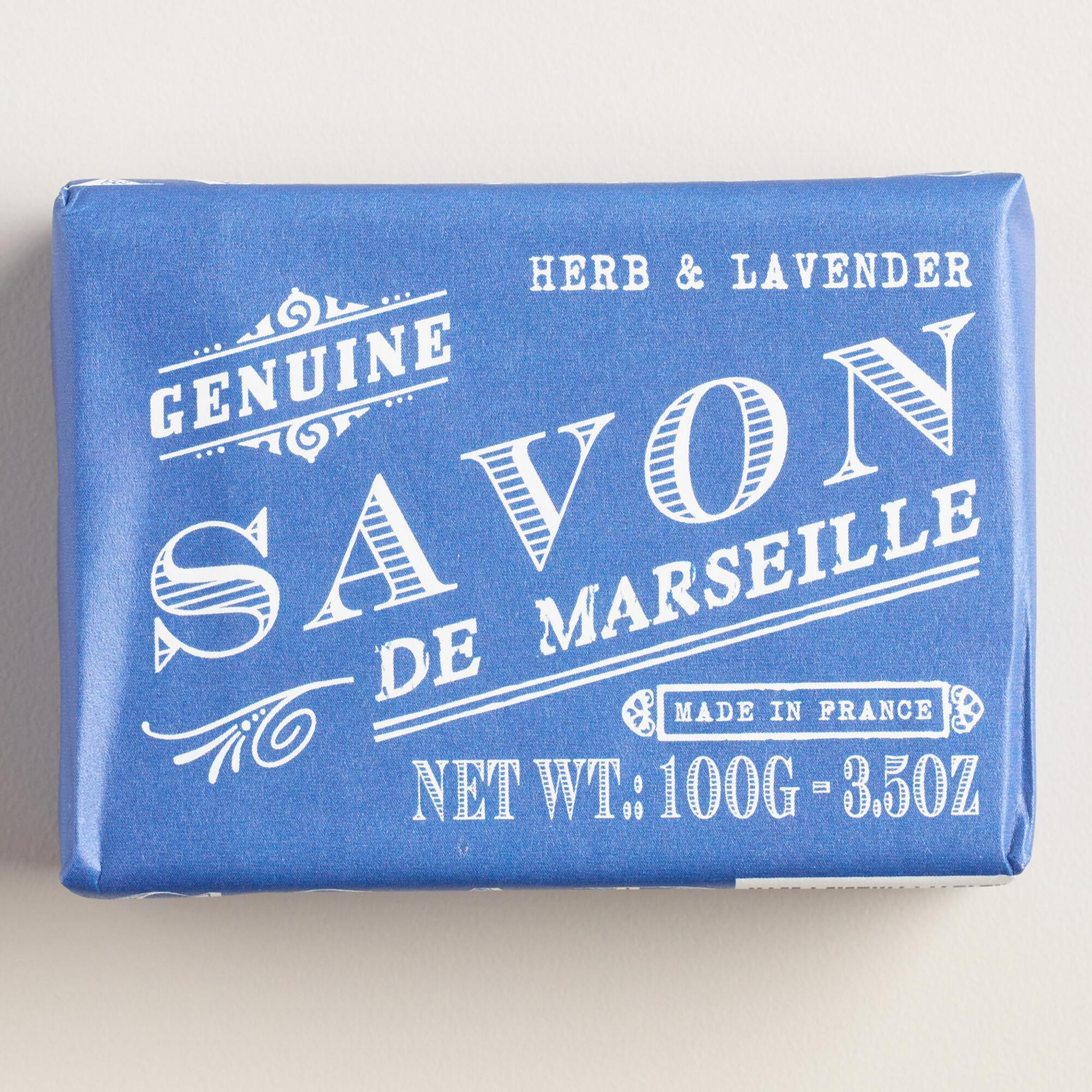 savon de marseille herb lavender bar soaps set of 2 world market. Black Bedroom Furniture Sets. Home Design Ideas