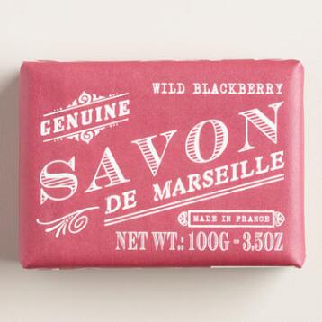Savon De Marseille Wild Blackberry Bar Soaps, Set of 2