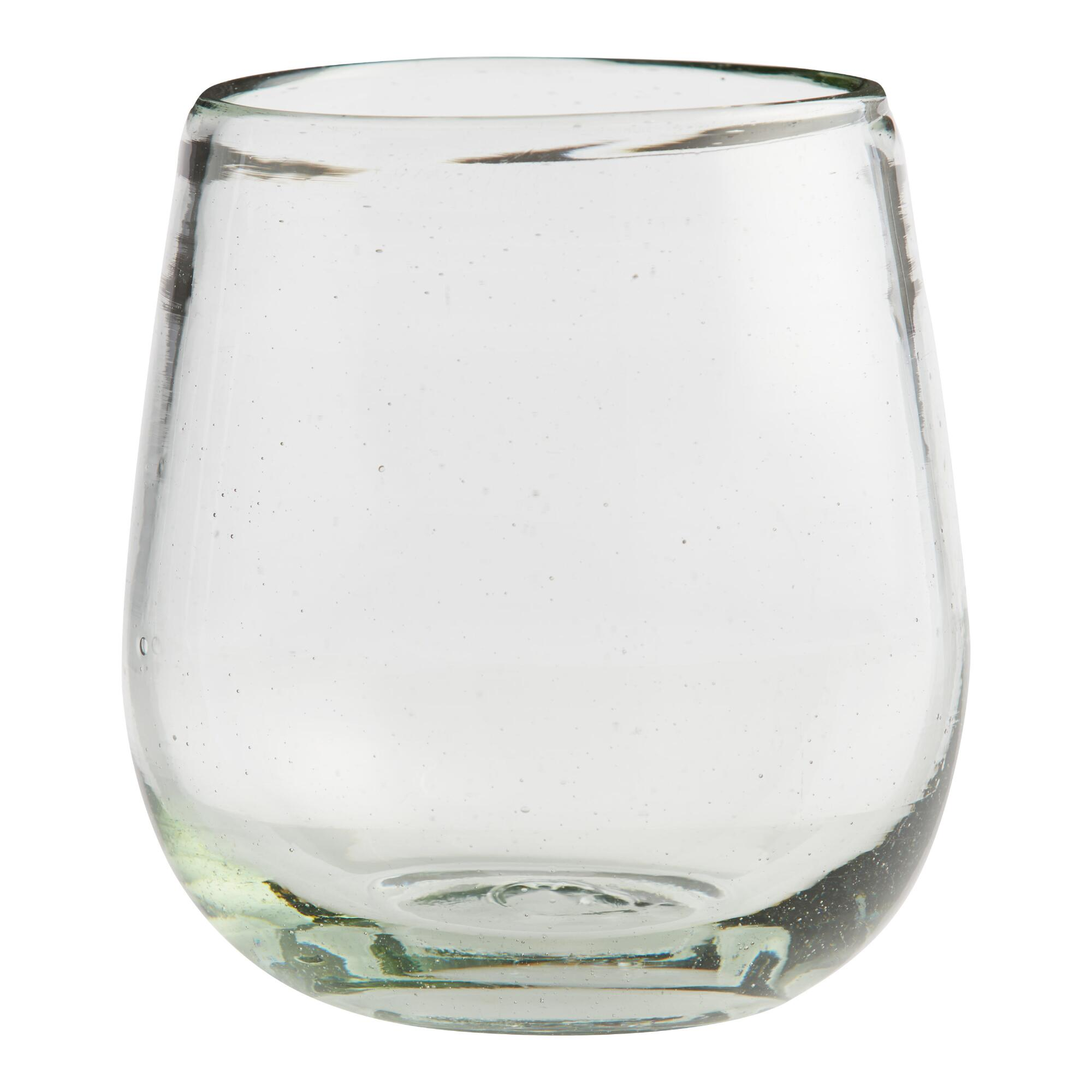 Recycled Stemless Wine Glasses Set Of 4 World Market