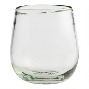 Recycled Stemless Wine Glasses, Set of 4