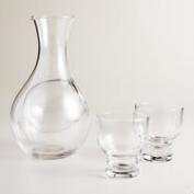 Sake Decanter and Glasses 3-Piece Set