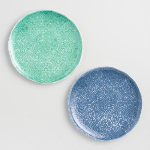 "9"" Aegean Melamine Plates, Set of 6"