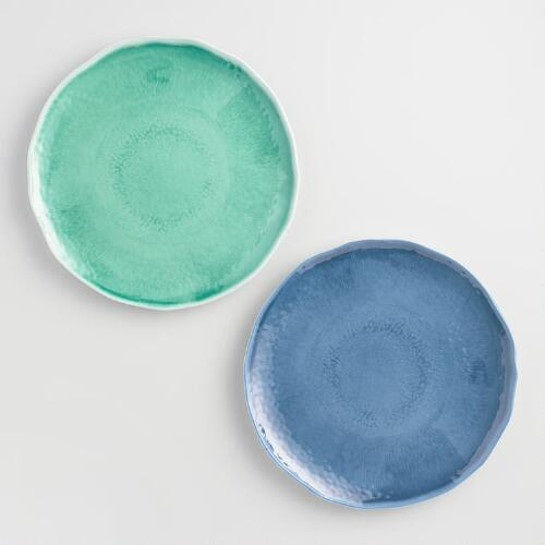 "11"" Aegean Melamine Plates, Set of 6"