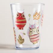Owl Melamine Tumblers, Set of 6