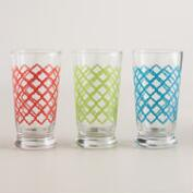 Quatrefoil Glass Tumblers, Set of 6