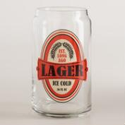 Lager Pint Glasses, Set of 4