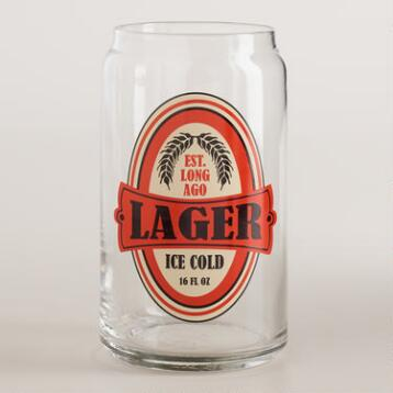 Lager Pint Glasses, Set of 6