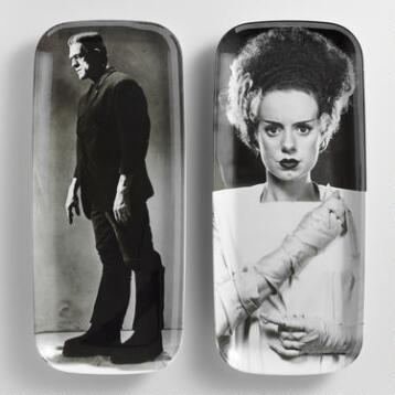 Bride and Frankenstein Melamine Rectangular Platter