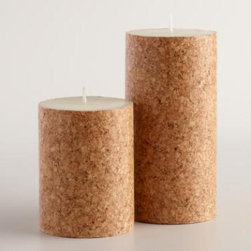 Cork Wrapped Candle