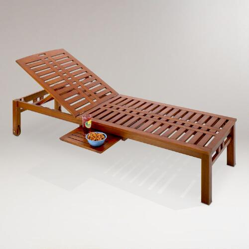 Kona Pool Lounger with Side Tray