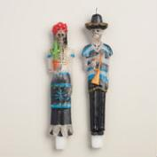 Los Muertos Taper Candles, Set of 2