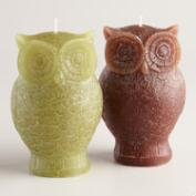 Owl Candles, Set of 2