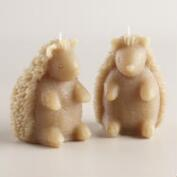Gray Hedgehog Candle,Set of 2