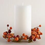 Berry and Burlap Candle Ring