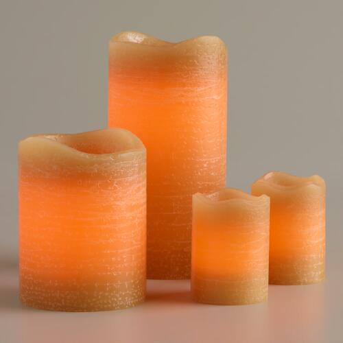 Rustic Amber Flameless LED Candle