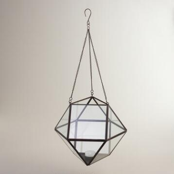 Bronze Metal Riley Geometric Hanging Lantern