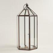 Antique Copper Metal Riley Hexagon Lantern