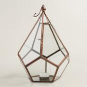 Antique Copper Metal Riley Teardrop Lantern