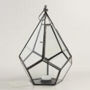 Antique Zinc Metal Riley Teardrop Lantern