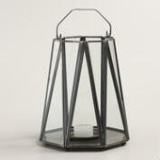 Antique Zinc Metal Riley Zigzag Lantern