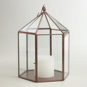 Antique Copper Metal Riley  Lantern