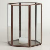 Antique Copper Metal  Riley Tealight Candleholder