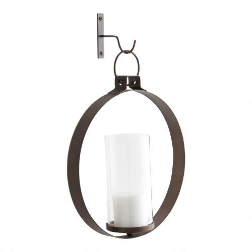 Bronze Metal Ethan Round Pendant Sconce
