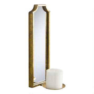 Antique Gold Rectangular Emma Sconce