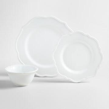 White Baroque Dinnerware Collection