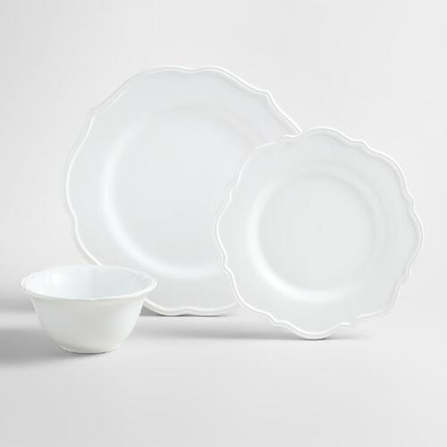 White Baroque Dinnerware