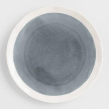 Gray Henley Salad Plates, Set of 4