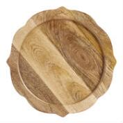 Wood Baroque Chargers, Set of 4