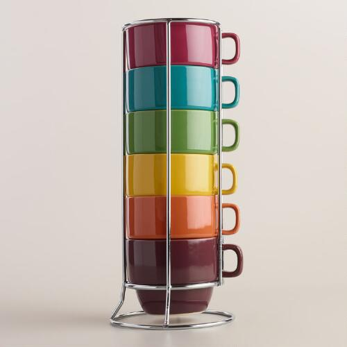Fall Stacking Mugs, Set of 6