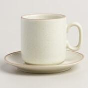Mid-Century Espresso Cups and Saucers, Set of 4