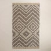 Steel Gray and Gray Morn Kilim Desert Yuma Area Rug
