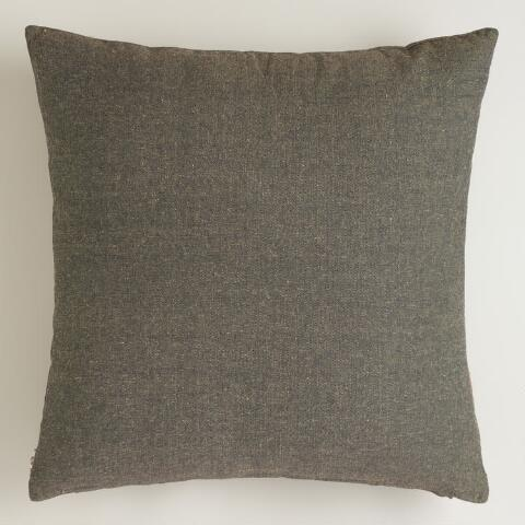 Gray Boho Chambray Throw Pillow World Market