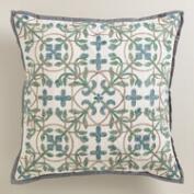 Aqua Blue Tile Throw Pillow