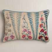 Blue and Coral Lumbar Pillow