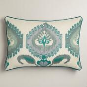 Blue Ikat Lumbar Pillow